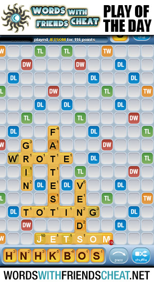 Words With Friends - Play Of The Day
